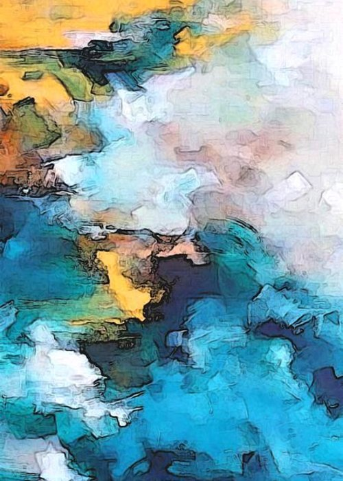 Abstract Greeting Card featuring the digital art Sweet Memory Shades by Linda Mears