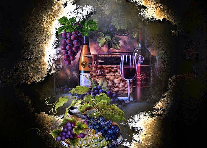 Grapes Greeting Card featuring the photograph Sweet Red Wine by G Berry