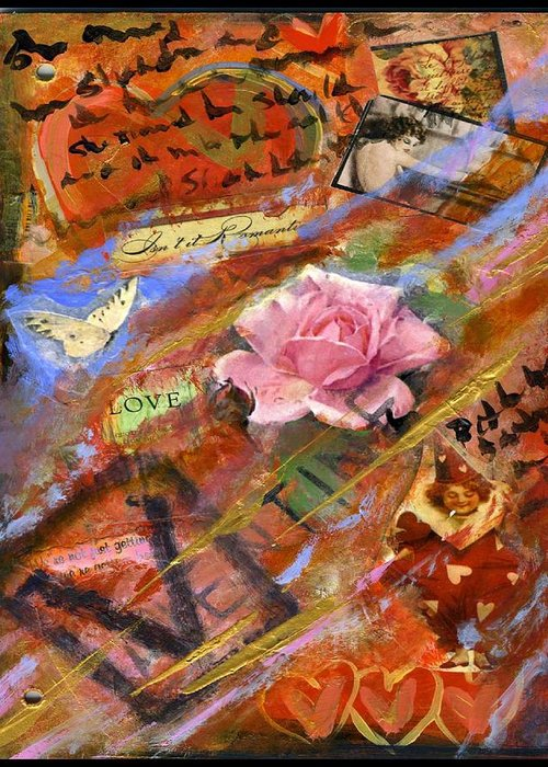 Love Greeting Card featuring the painting Sweetheart by Cathi Doherty