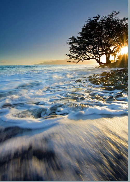 Sunset Greeting Card featuring the photograph Swept Out To Sea by Mike Dawson