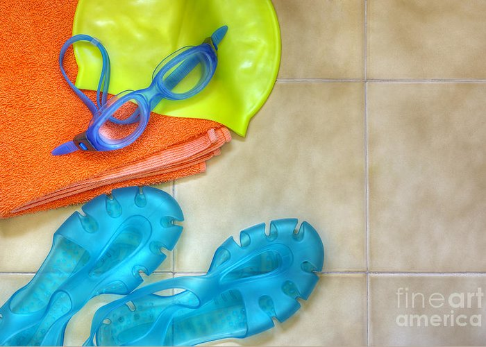 Accessory Greeting Card featuring the photograph Swimming Gear by Carlos Caetano