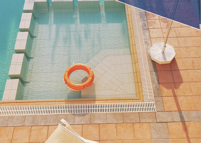 Water Greeting Card featuring the photograph Swimming Pool by Cassia Beck