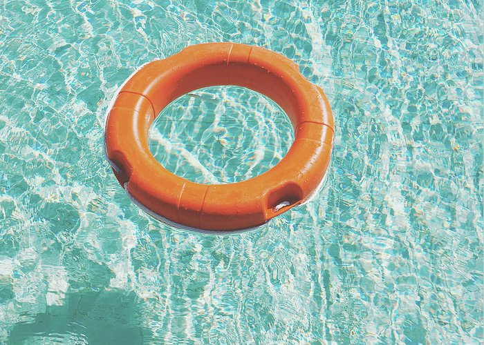 Water Greeting Card featuring the photograph Swimming Pool III by Cassia Beck