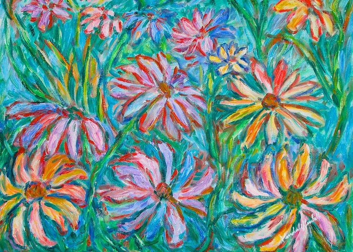 Impressionist Greeting Card featuring the painting Swirling Color by Kendall Kessler