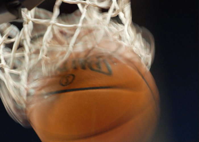 Basketball Greeting Card featuring the photograph Swish by Shane Kelly