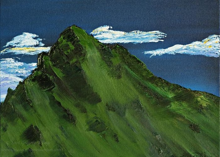 Switzerland Greeting Card featuring the painting Swiss Alp by Gregory Allen Page