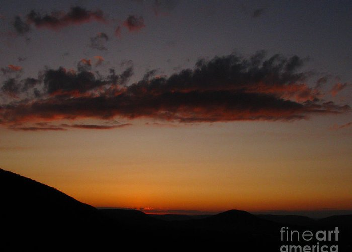 Cloud Greeting Card featuring the photograph Pennsylvania Sunset In Haltzon by Donna Brown