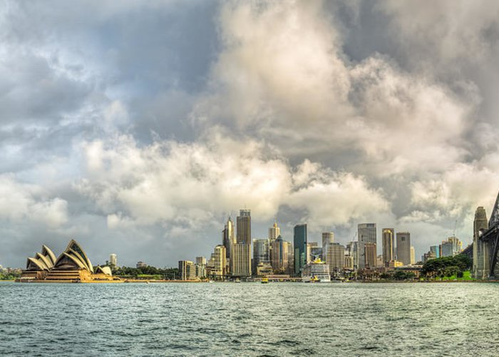 Sydney Greeting Card featuring the photograph Sydney After A Rainstorm by James Udall