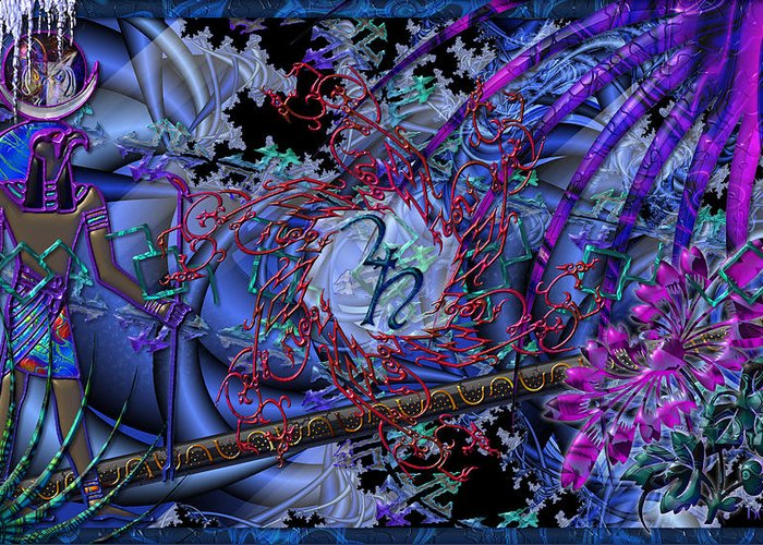 Greeting Card featuring the digital art Symagery 29 by Kenneth Armand Johnson