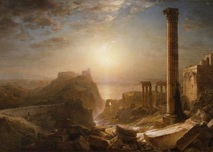 Syria Greeting Card featuring the painting Syria By The Sea by Frederic Edwin Church