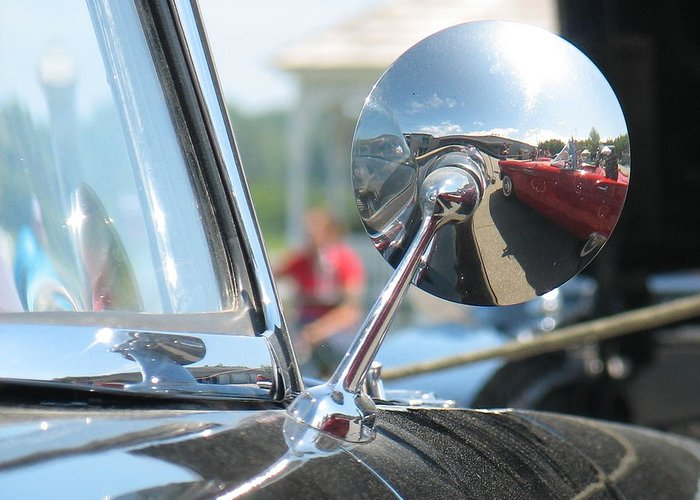 Thunderbird Greeting Card featuring the photograph T-bird Reflections by Kelly Mezzapelle
