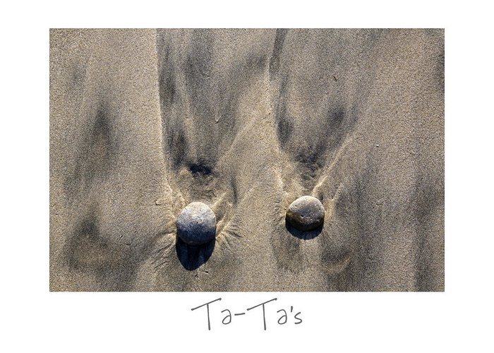 Beach Art Greeting Card featuring the photograph Ta-ta's by Peter Tellone