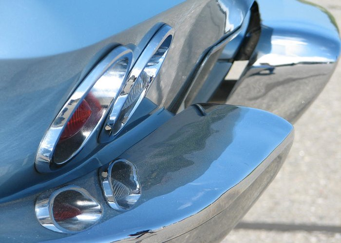 Corvette Greeting Card featuring the photograph Taillight Reflections by Kelly Mezzapelle