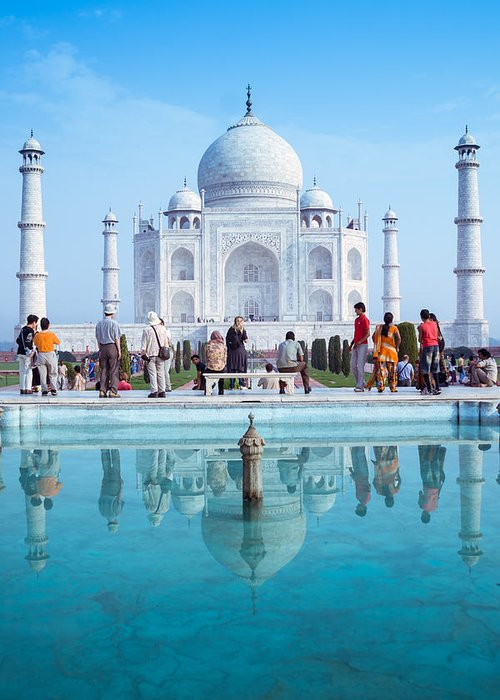 Ancient Greeting Card featuring the photograph Taj Mahal by Nila Newsom