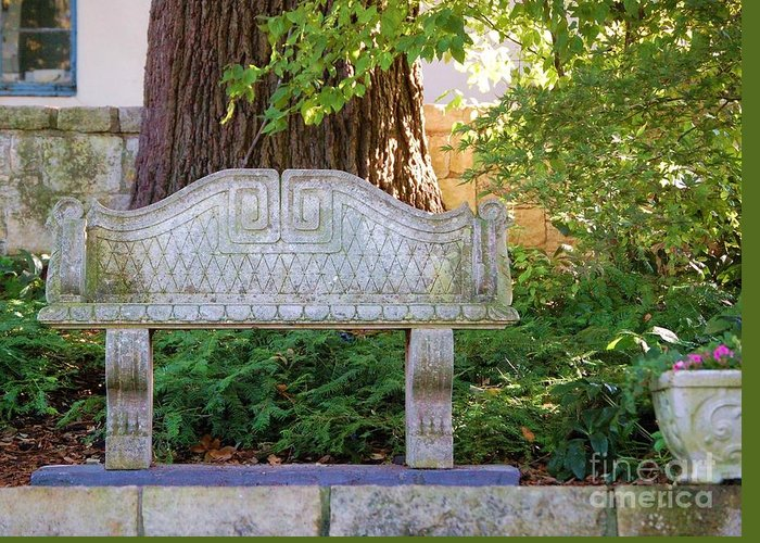 Bench Greeting Card featuring the photograph Take A Break by Debbi Granruth