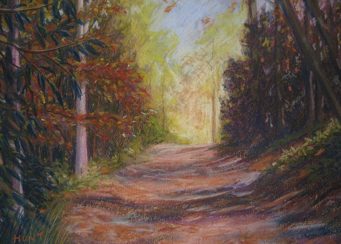 Landscape Greeting Card featuring the painting Take A Hike by Shirley Braithwaite Hunt