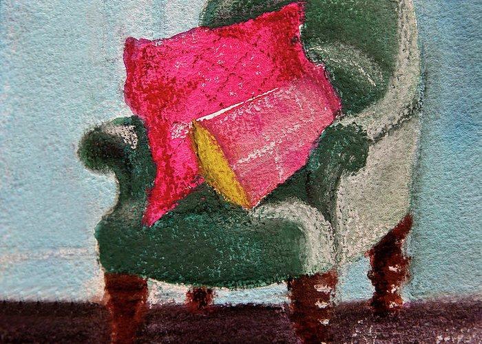 Pink Cushion Greeting Cards