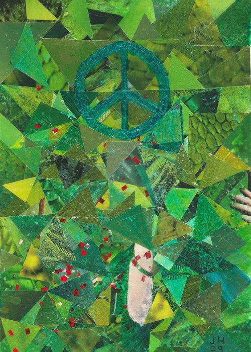 Peace Greeting Card featuring the painting Take A Step by Jerry Hanks