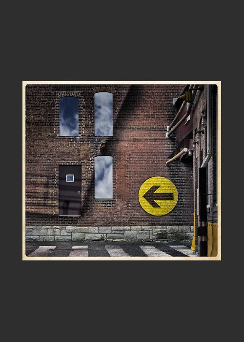 Conceptual Greeting Card featuring the photograph Take This Door by Phil Cardamone