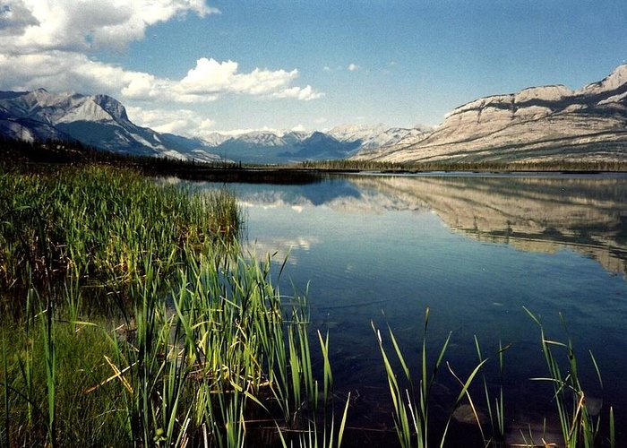 Mountains Greeting Card featuring the photograph Talbot Lake by Shirley Sirois
