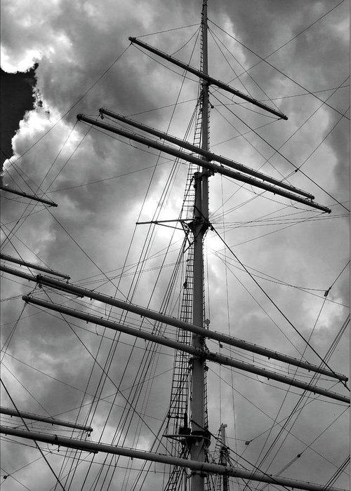 Masts Greeting Card featuring the photograph Tall Ship Masts by Robert Ullmann