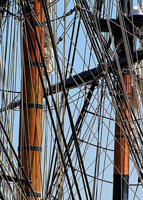Hovind Greeting Card featuring the photograph Tall Ship Series 11 by Scott Hovind