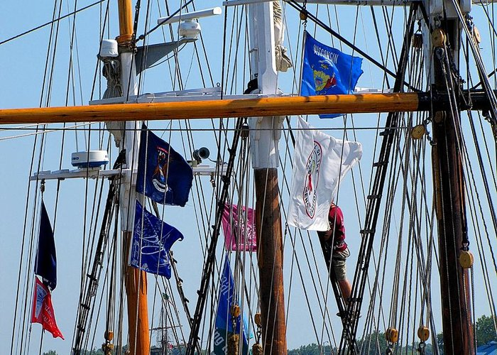 Hovind Greeting Card featuring the photograph Tall Ship Series 15 by Scott Hovind