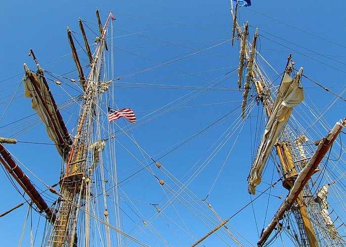 Hovind Greeting Card featuring the photograph Tall Ship Series 16 by Scott Hovind