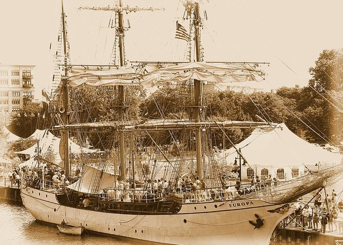 Hovind Greeting Card featuring the photograph Tall Ship Series 6 by Scott Hovind