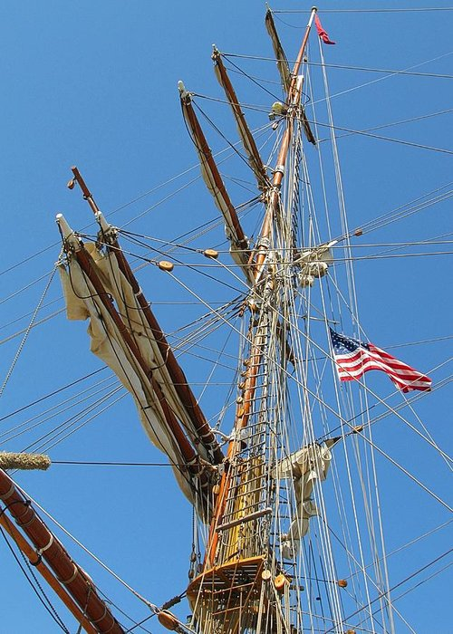 Wooden Greeting Card featuring the photograph Tall Ship Series 8 by Scott Hovind
