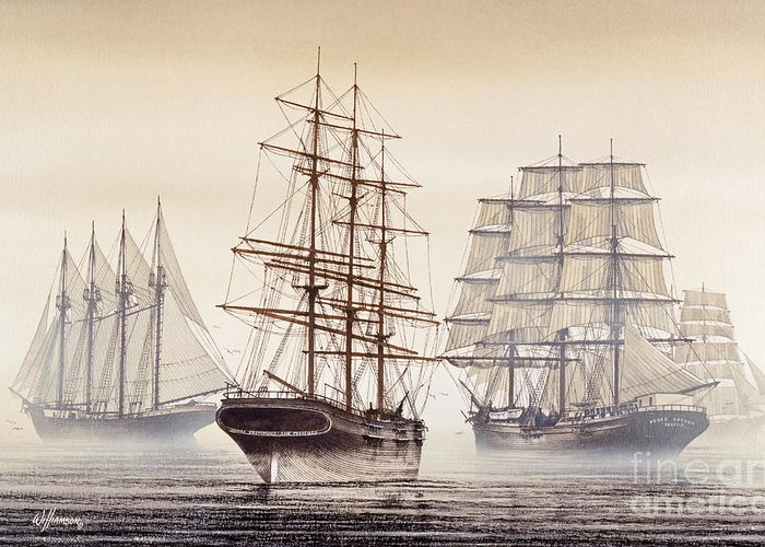 Tall Ship Image Greeting Cards