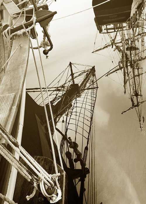 Tall Ships Greeting Card featuring the photograph Tall Ships Reflected by Robert Lacy