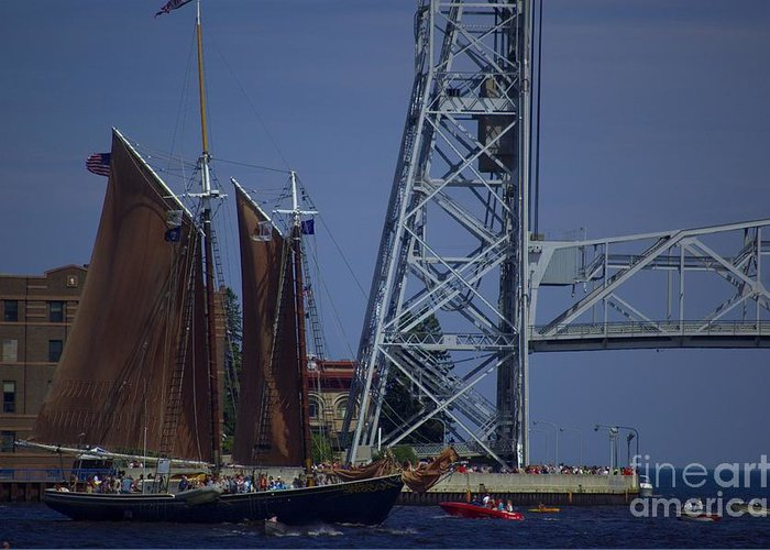Tall Greeting Card featuring the photograph Tall Ships by The Stone Age