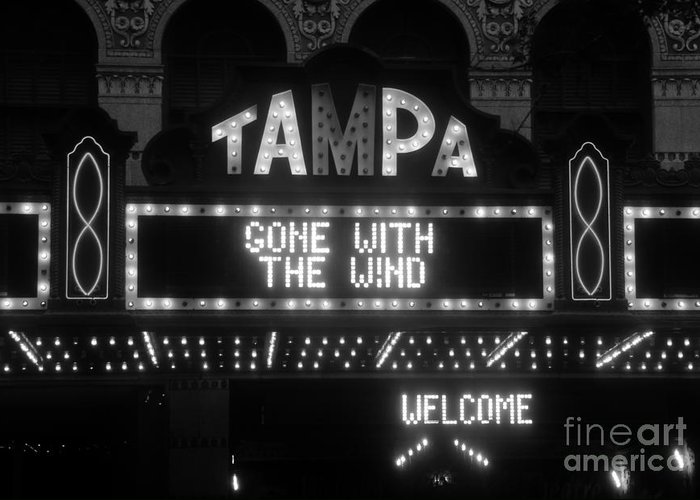 Tampa Theatre Greeting Card featuring the photograph Tampa Theatre 1939 by David Lee Thompson