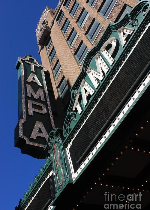 Tampa Theatre Greeting Card featuring the photograph Tampa Theatre by Carol Groenen