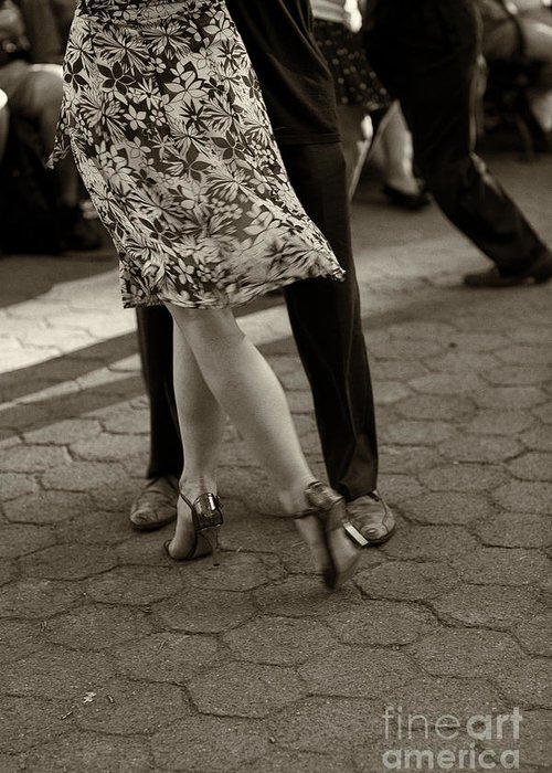 Tango Greeting Card featuring the photograph Tango In The Park by Leslie Leda