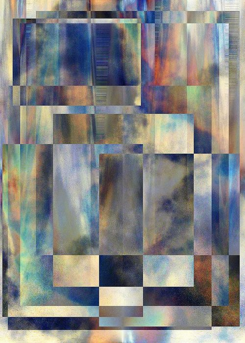 Abstract Greeting Card featuring the digital art Tango In The Sky by Tim Allen