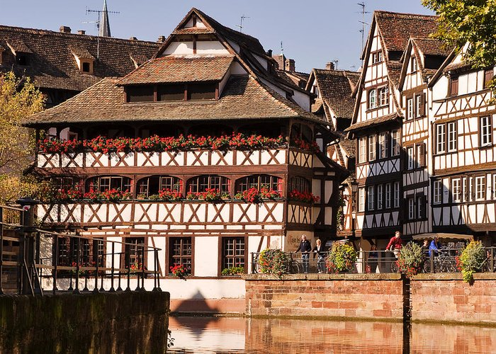 Travel Greeting Card featuring the photograph Tanners House Strasbourg by Louise Heusinkveld