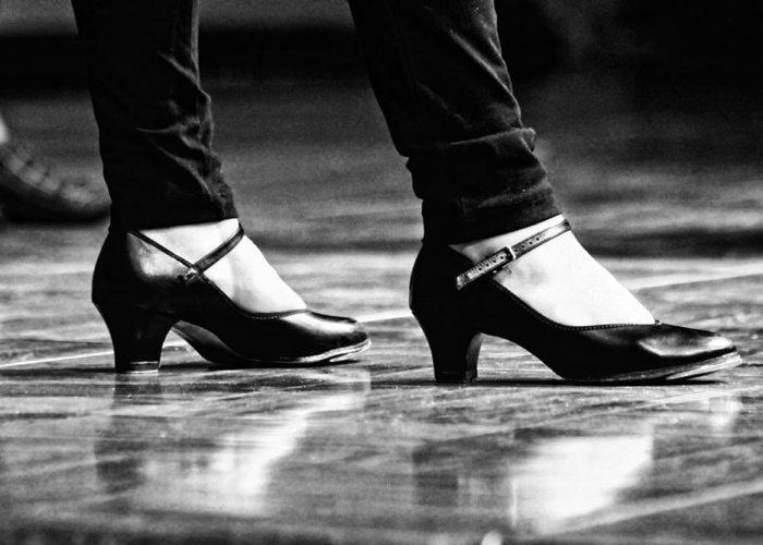 Tap Greeting Card featuring the photograph Tap Shoes by Lauri Novak