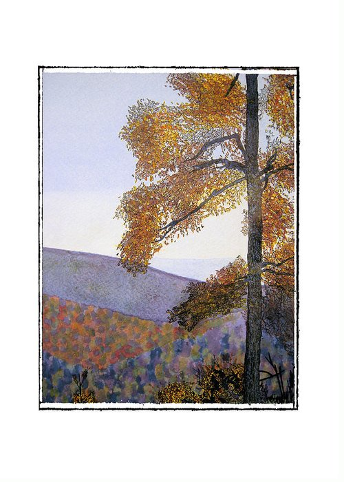 Landscape Greeting Card featuring the painting Tapestree by Robert Boyette