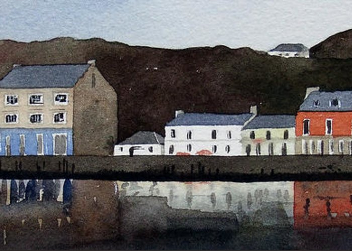 Landscape Greeting Card featuring the painting Tarbert by Paul Dene Marlor