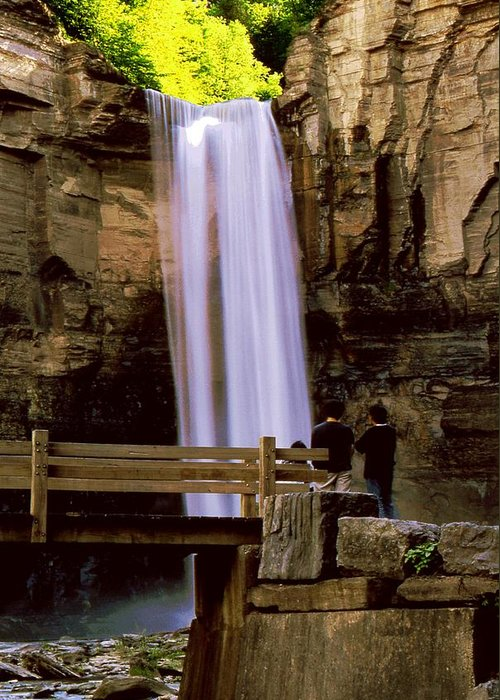 Waterfall Greeting Card featuring the photograph Taughannock Falls by Roger Soule