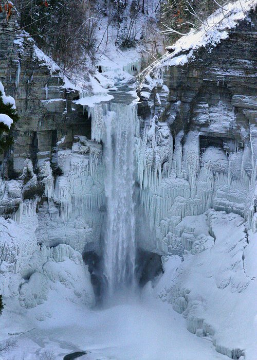 Taughannock Greeting Card featuring the photograph Taughannock Frozen by Paul Smith-Keitley