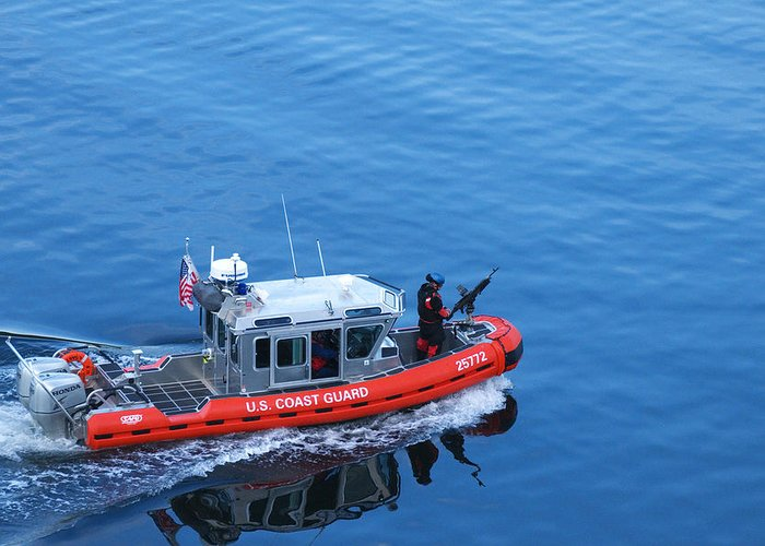 Coast Guard Greeting Card featuring the photograph Tax Dollars At Work by Richard Henne