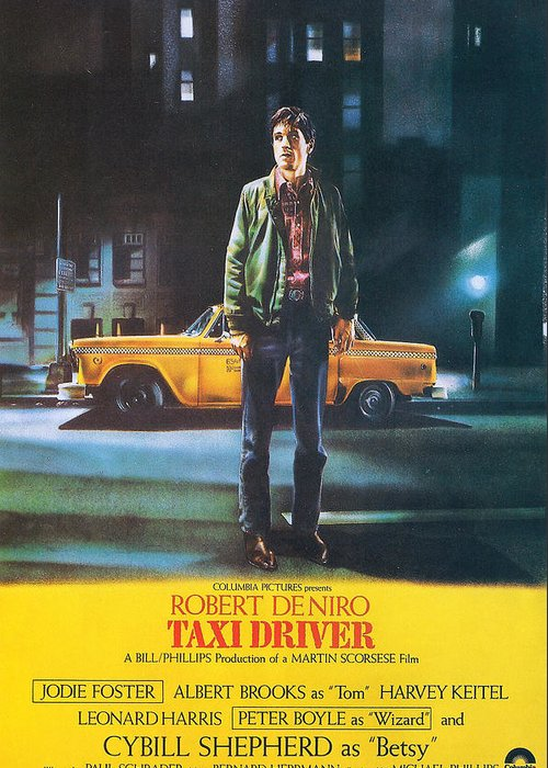 Taxi Driver Greeting Card featuring the photograph Taxi Driver - Robert De Niro by Georgia Fowler