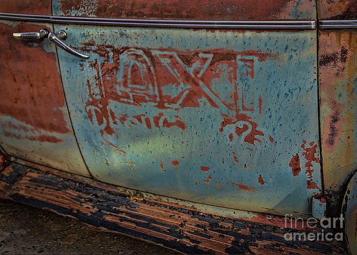 Old Greeting Card featuring the photograph Taxi To Nowhere by Janice Pariza