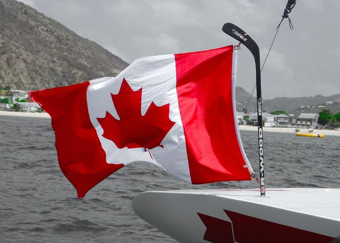 Flag Greeting Card featuring the photograph Team Canada by Michael Bergman