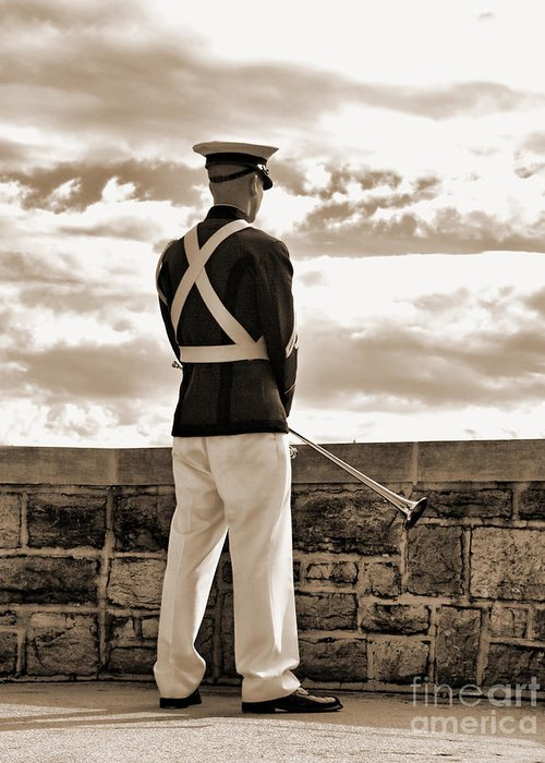 Greeting Card featuring the photograph Tech Soldier by Kathy Jennings
