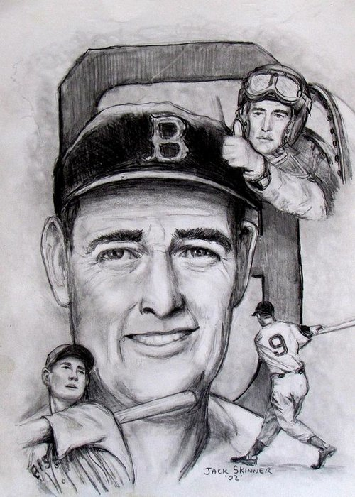 Baseball Greeting Card featuring the photograph Ted by Jack Skinner