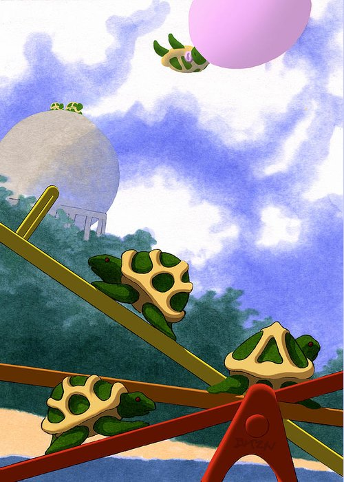 Dkzn Greeting Card featuring the digital art Teeter by Tom Dickson